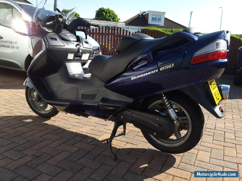 2006 suzuki burgman 650 for sale in united kingdom. Black Bedroom Furniture Sets. Home Design Ideas
