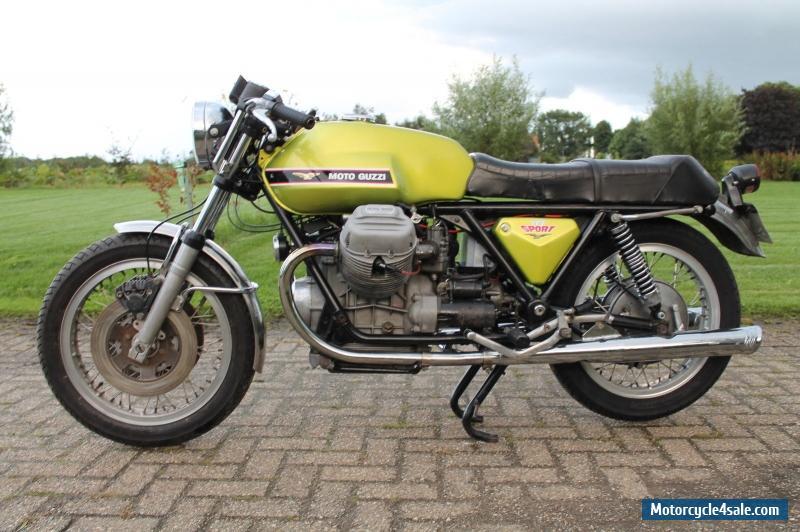 1974 moto guzzi moto guzzi v7 sport for sale in united kingdom. Black Bedroom Furniture Sets. Home Design Ideas