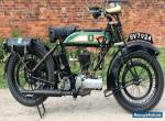 1926 BSA S26, 500cc flat-tank vintage motorcycle, excellent runner for Sale