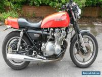 SUZUKI  GS750E RED 1979 classic motorbike CHARITY auction.