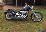 Blue 2007 Softail Harley Davidson for Sale
