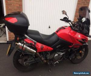 2005 SUZUKI DL - 650 V-STORM RED Accessories heated grips top box givi ADVENTURE for Sale