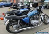 SUZUKI gs 250 t BLUE classic twin cylinder custom for Sale