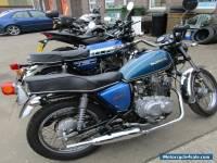 SUZUKI gs 250 t BLUE classic twin cylinder custom