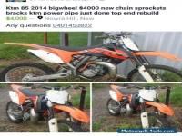 Ktm 2014 85 motorbike