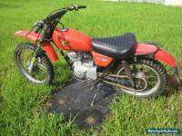 Honda xl motorcycle for restoration