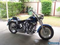 Harley Davidson 2004 blue Fat Boy