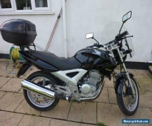 2007 HONDA CBF 250-4 BLACK MOTORCYCLE CAT C FULLY WORKING, TOP BOX GOOD COND for Sale