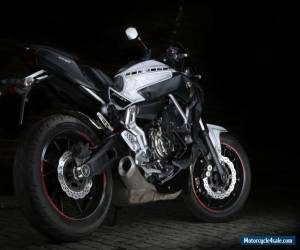 2014 YAMAHA MT-07 WHITE BLACK STREETFIGHTER RACER MOTORBIKE MOTORCYCLE 01 09 03 for Sale