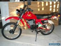 Honda xl 100s 1985