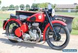 BSA M20 Year 1949 with Boat-Sidecar very rare perfect runner with dutch papers  for Sale