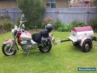 motorbike with trailer