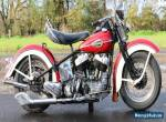Harley Davidson 1945 U1200 very rare production year super winterproject  for Sale