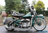Harley Davidson WL750 from 1948 in Full dresser style oh what a beauty  for Sale