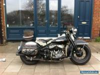 HARLEY FLATHEAD 45,1950 ORIGINAL RESTORED 20 YEARS AGO, 750cc all matching parts