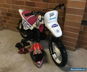 Yamaha PW50 Peewee 50 Motorbike Dirt Bike Helment Goggles and Gloves for Sale