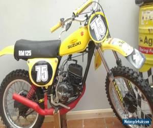 Vintage Suzuki RM 125 1975 (WATCH THE VIDEO) for Sale